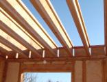 Так для усиления прочности балки для деревянных перекрытий делают сборную конструкцию в виде двутавра.